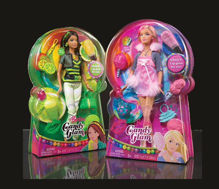 Barbie Candy Glam Packaging