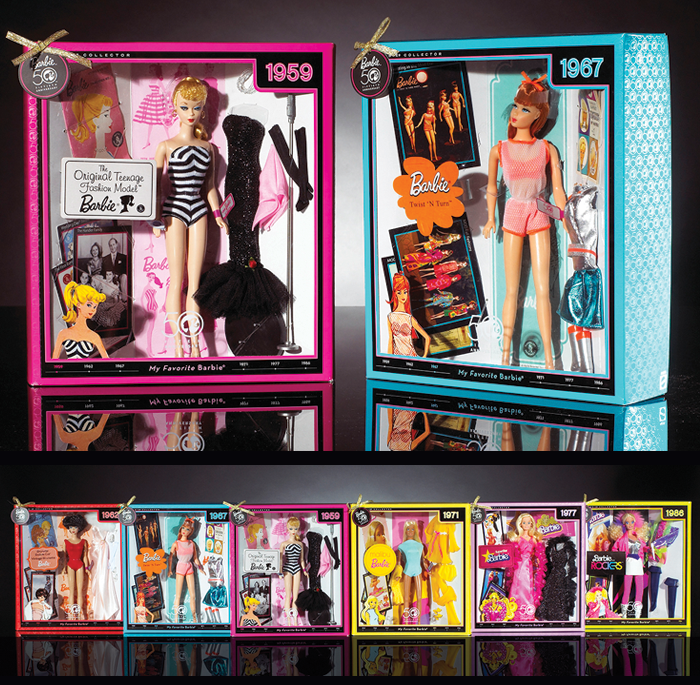 barbie 50th anniversary collection