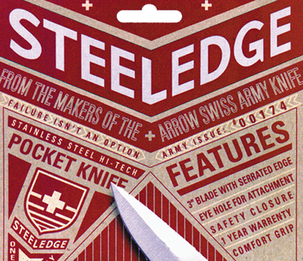 Steeledge Tools packaging